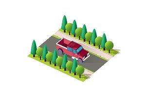 Isometric front right view pickup