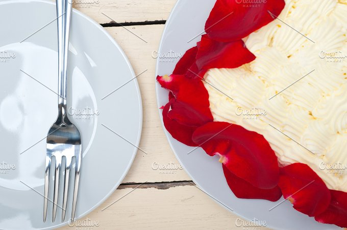 whipped cream mango cake with red rose petals 009.jpg - Food & Drink