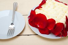 whipped cream mango cake with red rose petals 011.jpg
