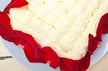 whipped cream mango cake with red rose petals 010.jpg