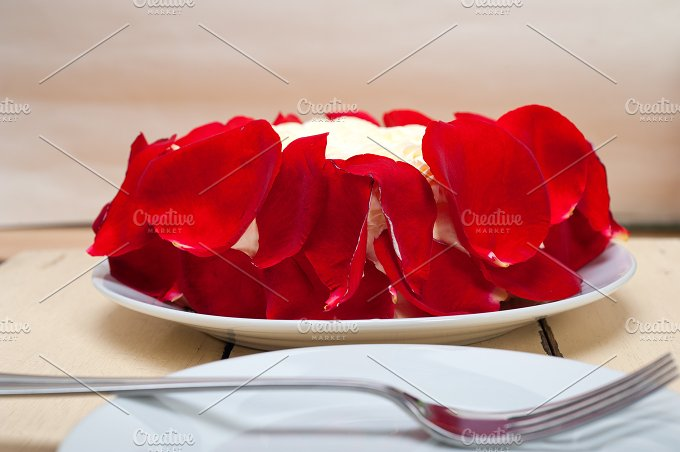 whipped cream mango cake with red rose petals 012.jpg - Food & Drink