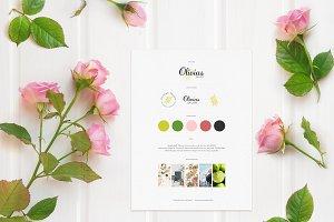 Olivia's Branding Board Template