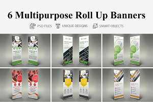 6 Multipurpose Roll Up Banners