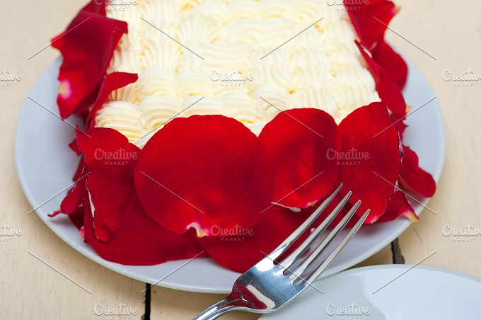 whipped cream mango cake with red rose petals 025.jpg - Food & Drink