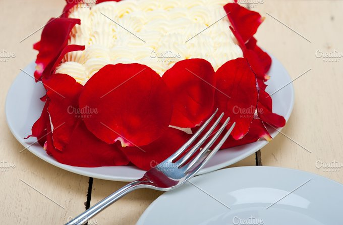 whipped cream mango cake with red rose petals 024.jpg - Food & Drink