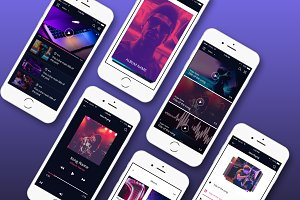 Multimedia Mobile UI Kit