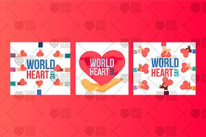 World Heart Day Banners