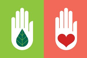 Hand with Leaf & Heart