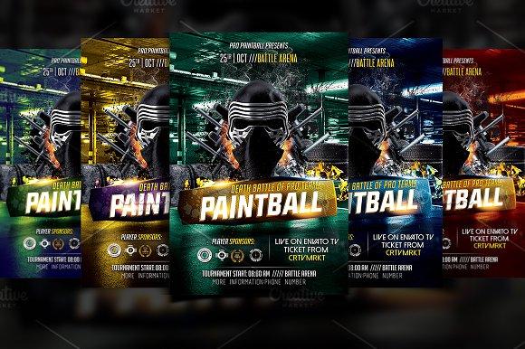 Paintball Flyer Template