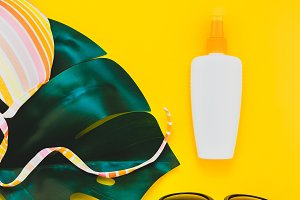 Summer vacations creative flat lay c