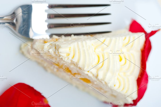 whipped cream mango cake with red rose petals 059.jpg - Food & Drink