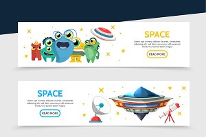 Space horizontal banners