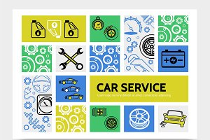 Car service infographic template
