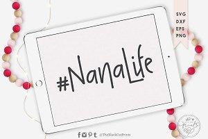 Nanalife SVG DXF EPS PNG, Hashtag