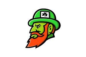 Leprechaun Head Mascot