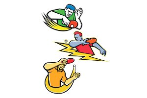 Table Tennis Sports Mascot Collectio
