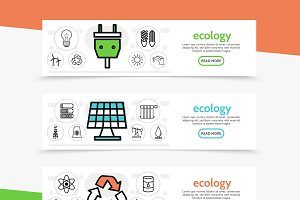 Ecology horizontal banners