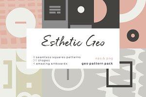 Esthetic Geometric pattern set