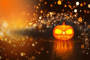 Halloween, sparkling background with
