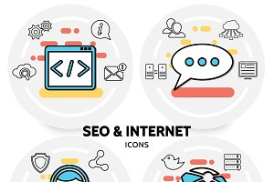 Seo and internet concept