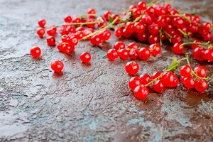fresh red currant berries