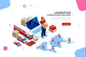 Logistics Banner Vector Illustration