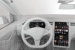 Tesla Model X Display UI mockup