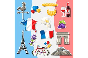 France icons set.