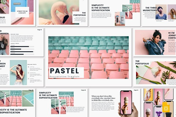 Presentation Templates: deasign - PASTEL - Google Slides Template
