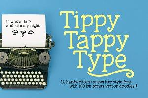 Tippy Tappy Type: a typewriter font!