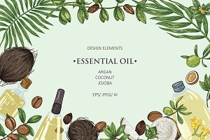 Essential oils:argan,coconut,jojoba