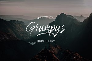 Grumpys ~ Brush Font