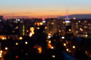 bokeh night city