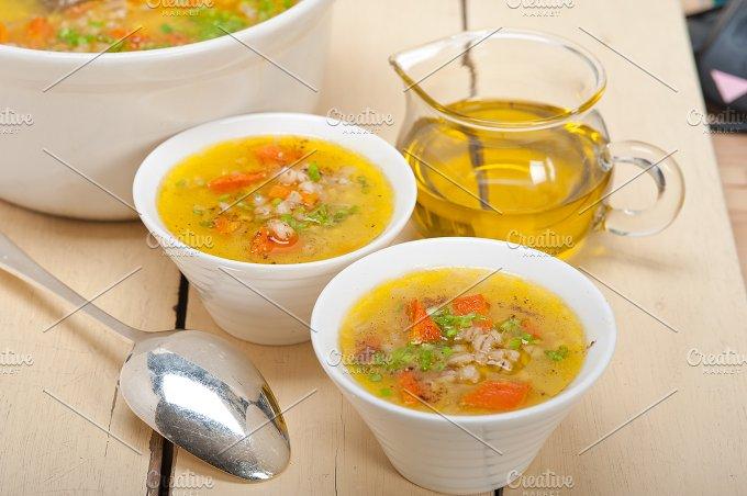 Syrian barley broth soup Aleppo style called talbina 008.jpg - Food & Drink