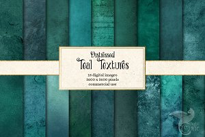 Distressed Teal Textures