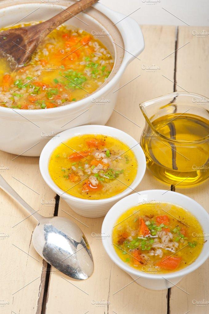 Syrian barley broth soup Aleppo style called talbina 011.jpg - Food & Drink