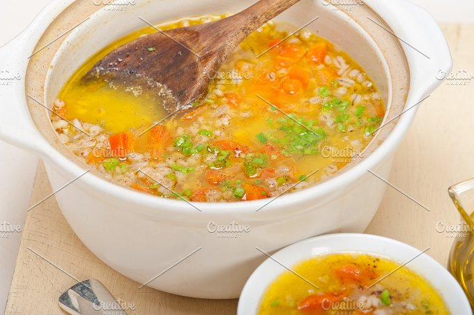 Syrian barley broth soup Aleppo style called talbina 013.jpg - Food & Drink