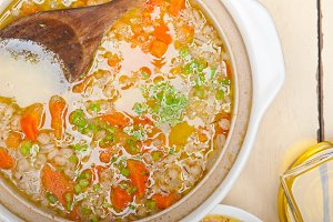 Syrian barley broth soup Aleppo style called talbina 015.jpg