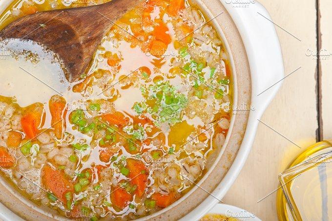 Syrian barley broth soup Aleppo style called talbina 015.jpg - Food & Drink
