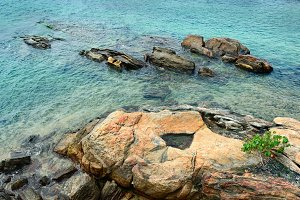 Beautiful stones in the ocean