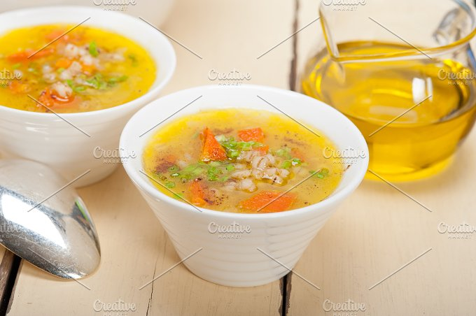 Syrian barley broth soup Aleppo style called talbina 019.jpg - Food & Drink
