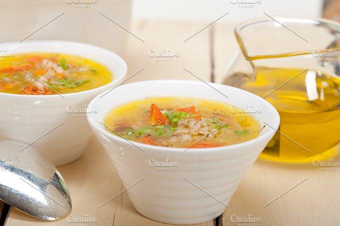Syrian barley broth soup Aleppo style called talbina 018.jpg - Food & Drink