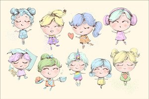 9 cute baby girls