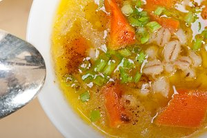 Syrian barley broth soup Aleppo style called talbina 024.jpg