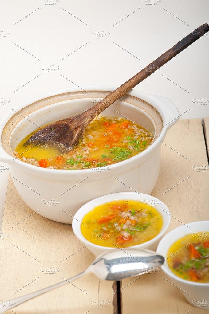 Syrian barley broth soup Aleppo style called talbina 027.jpg - Food & Drink