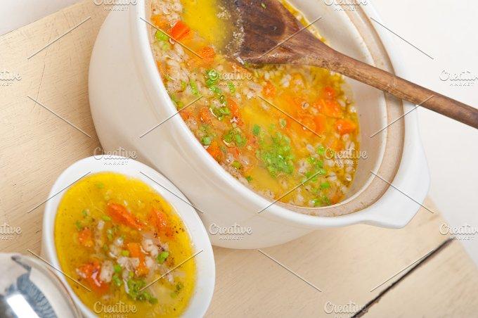 Syrian barley broth soup Aleppo style called talbina 029.jpg - Food & Drink