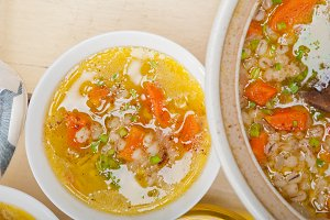 Syrian barley broth soup Aleppo style called talbina 041.jpg