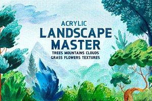 Landscape Master. Acrylic.