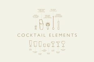 Vector Cocktail Elements