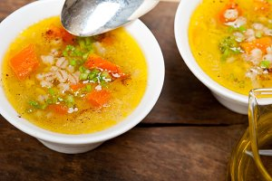 Syrian barley broth soup Aleppo style called talbina 058.jpg